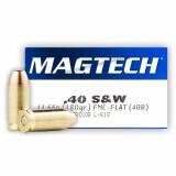 Magtech 40 S&W 180 Grain FMJ Flat - 1000 Rounds
