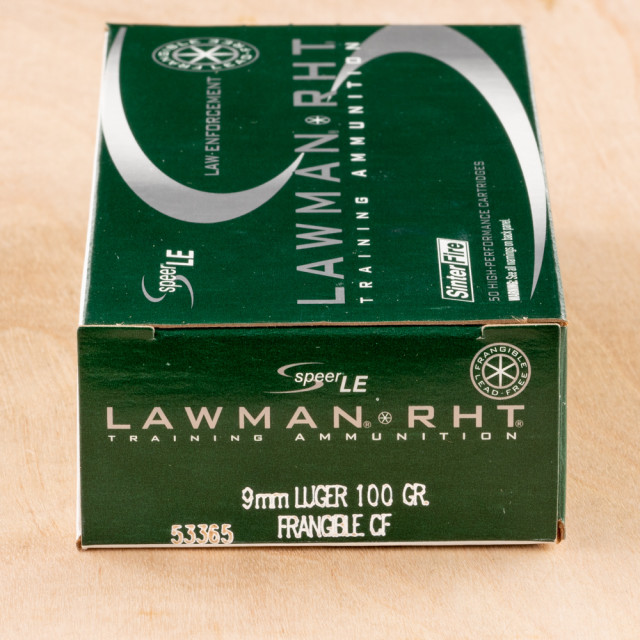 Image of Speer Lawman 9mm 100 Grain RHT Frangible – 50 Rounds